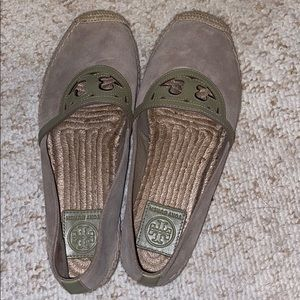 Grey Tory Burch espadrilles